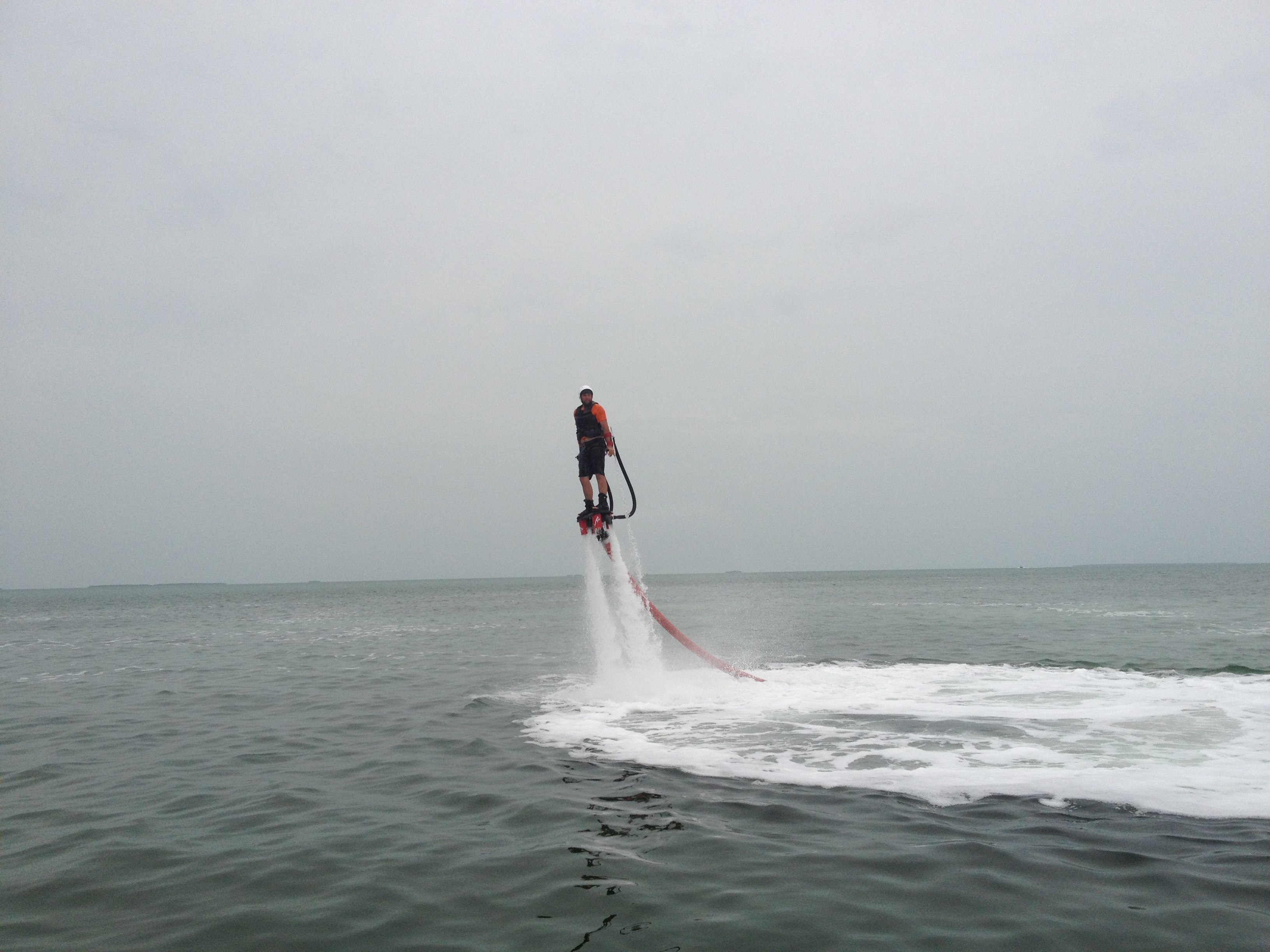 FlyBoarding with a medium hover